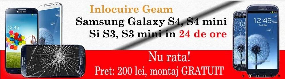 inlocuire geam samsung service samsung