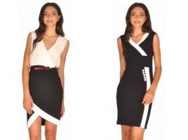 rochie alb cu negru 01