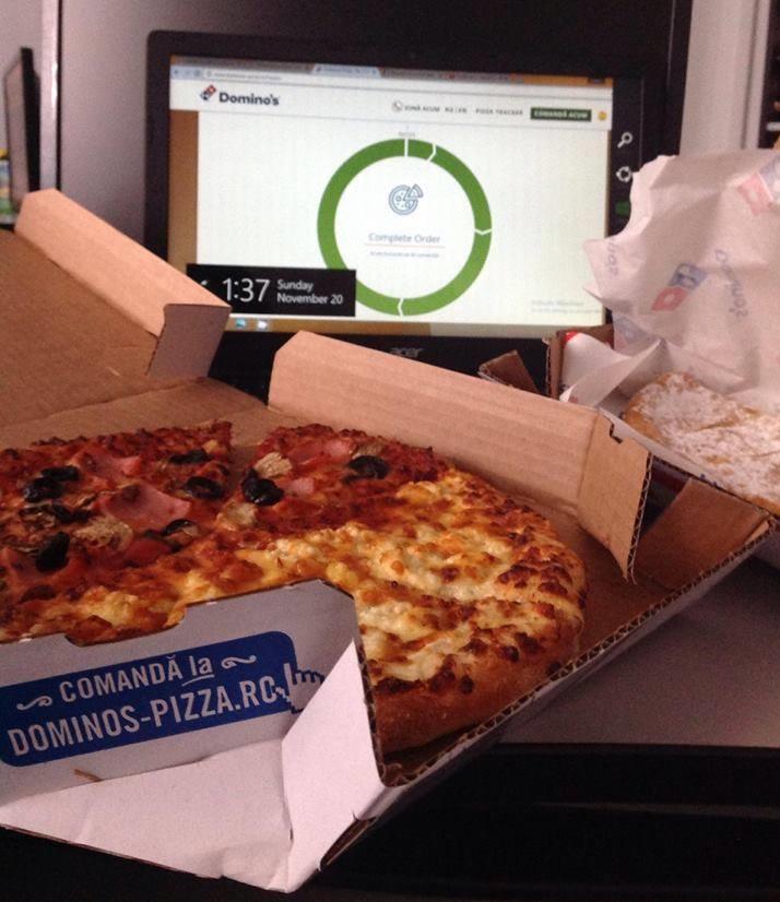 domino's pizza half-half