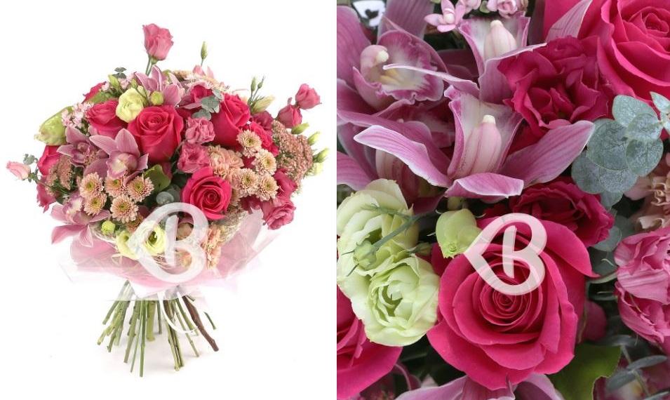 buchet flori roz
