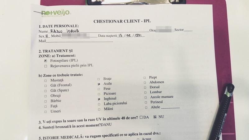 chestionar client Nomasvello
