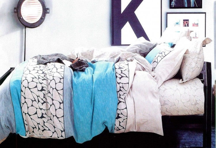 lenjerie de pat albastra somnia
