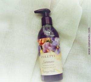 02 bottega verde Sapun lichid cu extract de violete