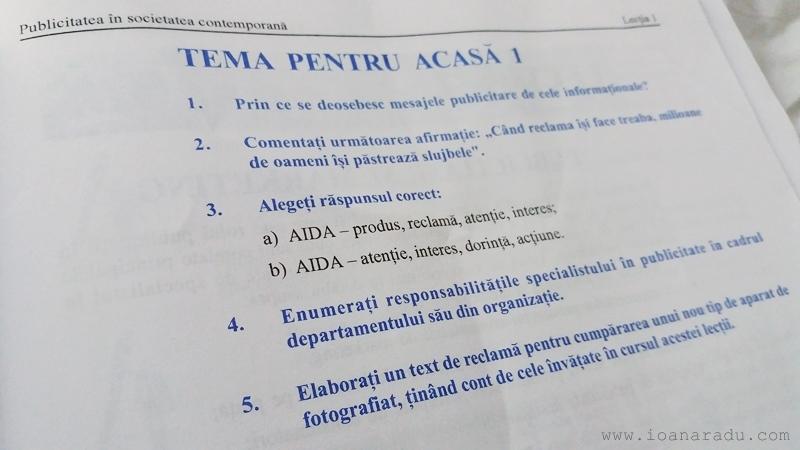 tema pentru acasa curs Publicitate Eurocor