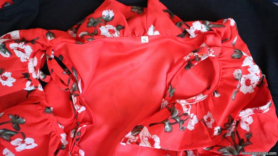 rochie rosie casual chicuu