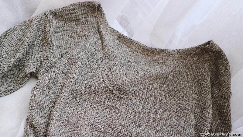 rochie tricotata gri dresslily