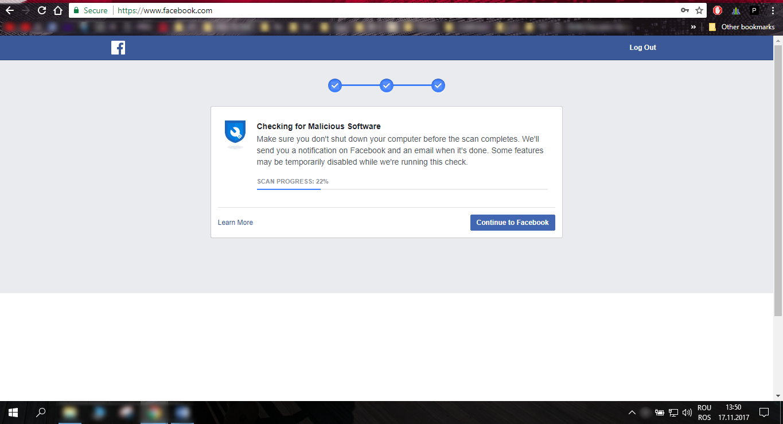 scanare de la facebook