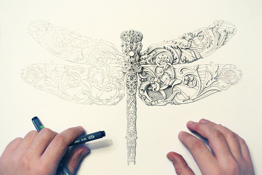 7. little-wings-insect-drawings-alex-konahin-1