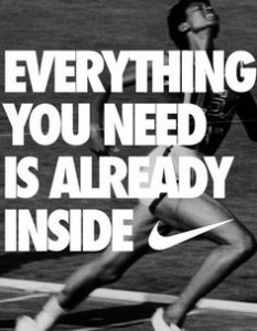 everything you need is already inside nike campaign