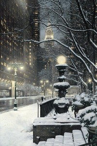 december snow new york