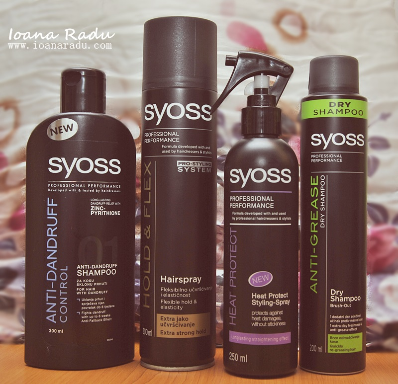 Syoss Professional sampon + fixativ + heat protection + sampon uscat