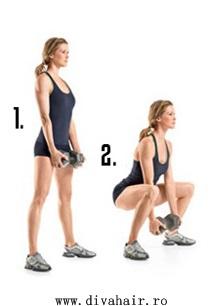 genuflexiuni - exercitiu pentru fund si picioare