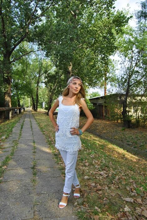 02 OOTD white outfit rochie de plaja pikant24 Revista Despre Moda