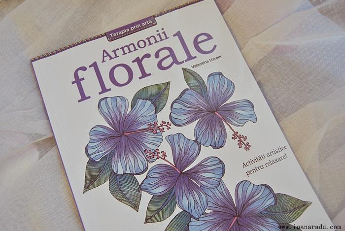 armonii florale carte de colorat