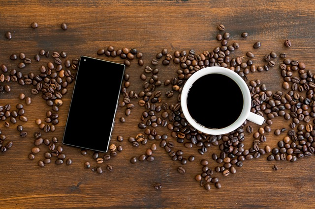 coffee smartphone