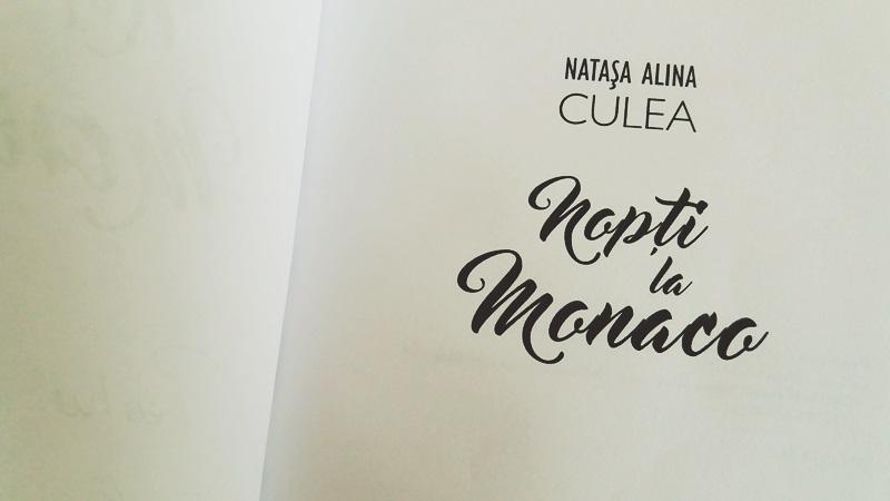 Nopti la Monaco, roman de Natasa Alina Culea