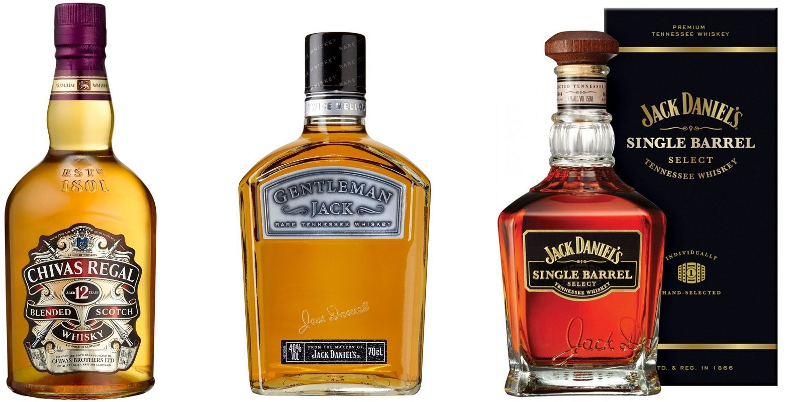 Chivas Regal Jack Daniels Gentleman Single Barrel