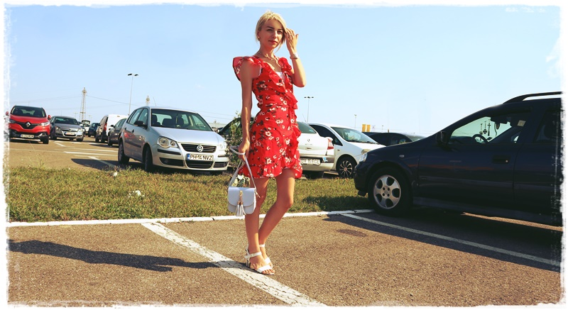 OOTD casual red dress