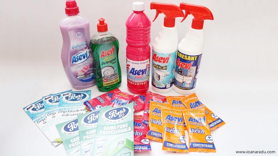 produse pentru curatenie Asevi