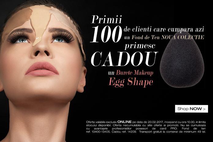 oferta fond de ten full coverage foundation melkior professional burete make-up eggshape