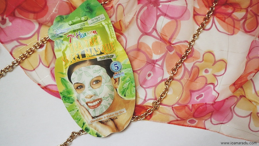 Tea tree sheet masque - masca tonica de fata cu extract de arbore de ceai si menta