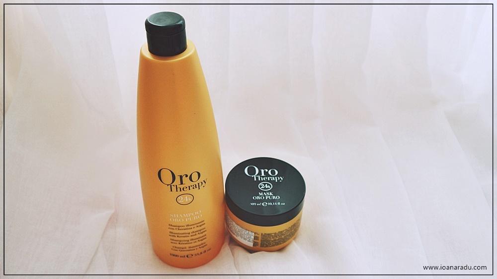 sampon si masca de par Oro Therapy 24k
