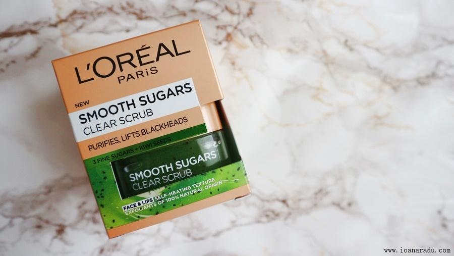 Exfoliant pentru față Smooth Sugars de la L'Oréal Paris