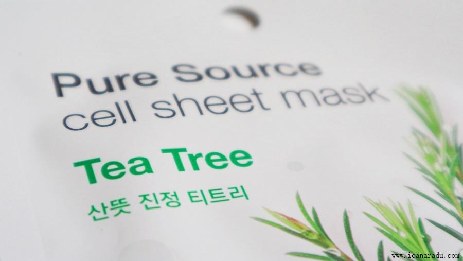 Mască de față cu arbore de ceai de la Missha