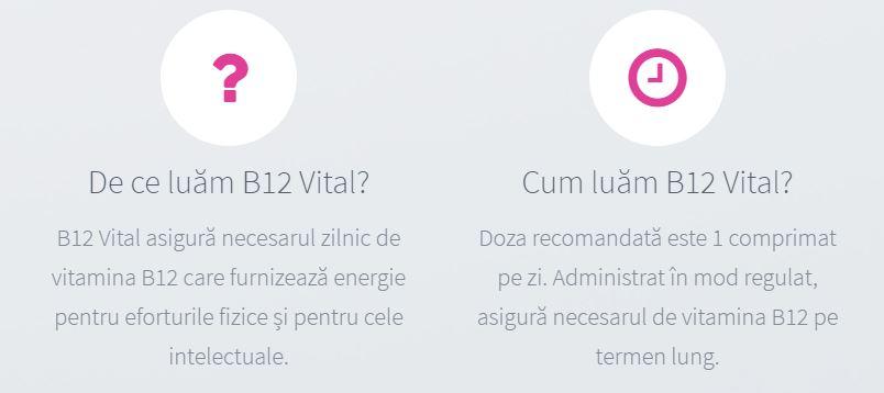 supliment alimentar B12 Vital