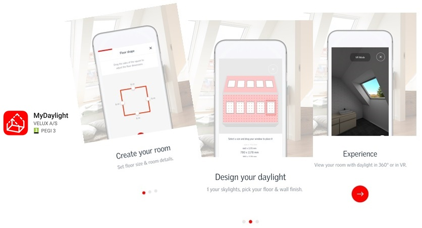 aplicatia MyDaylight by Velux