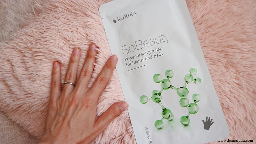 Masca regeneratoare pentru mâini și unghii Korika SciBeauty review