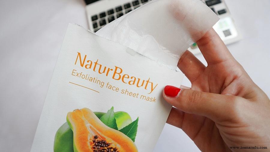 review masca textilă exfoliantă KORIKA NaturBeauty