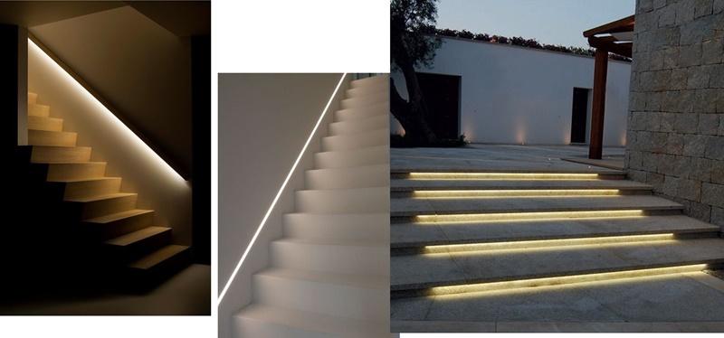 iluminatul treptelor sau al balustradelor