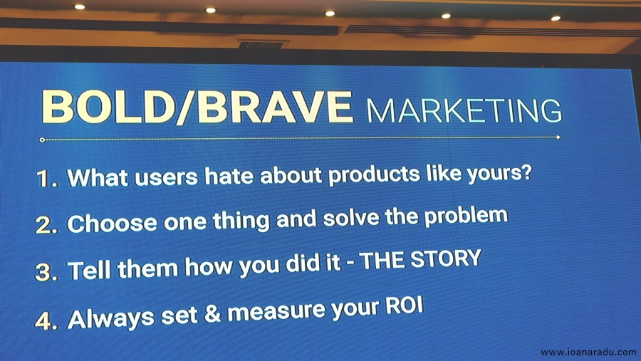 Bold/Brave Marketing by Alexandru Negrea at Webstock 2018