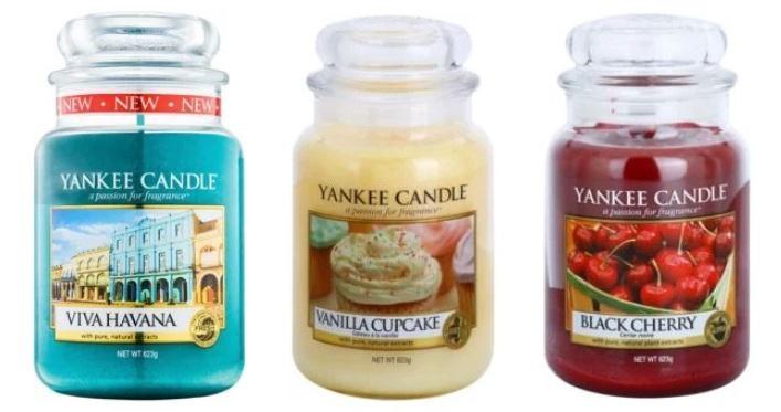 Lumânare parfumată Yankee Candle în borcan de sticlă