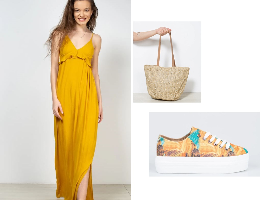 midsommar outfit with sneakers