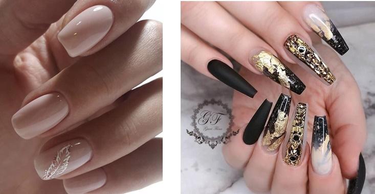 unghii simple si unghii cu model