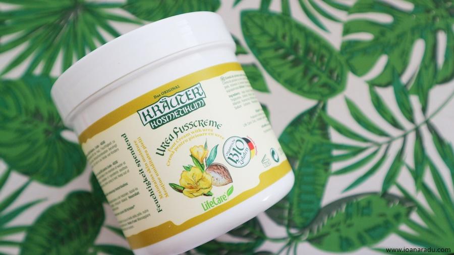 Cremă de picioare pentru menținerea umidității pielii, cu uree și plante BIO Kräuter® pentru hidratarea si relaxarea picioarelor