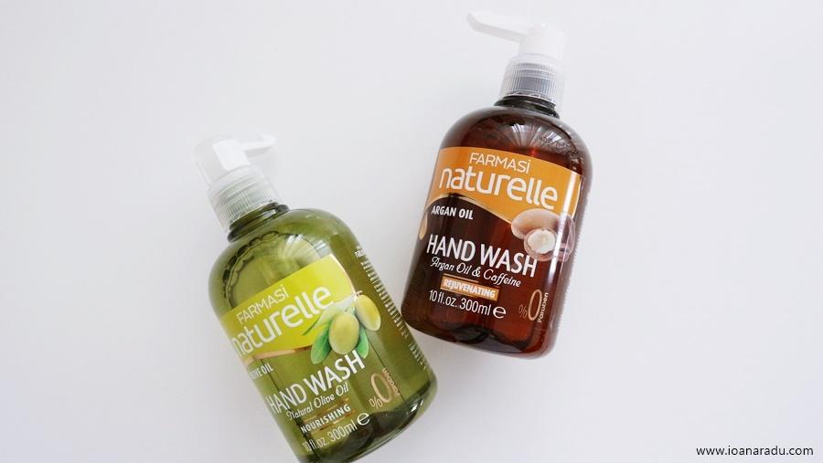 Săpun lichid cu ulei de măsline & săpun lichid cu ulei de argan de la Farmasi