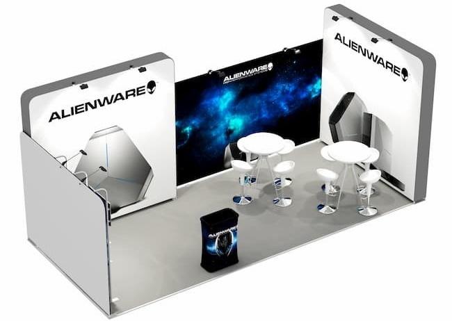 stand expozitional alienware