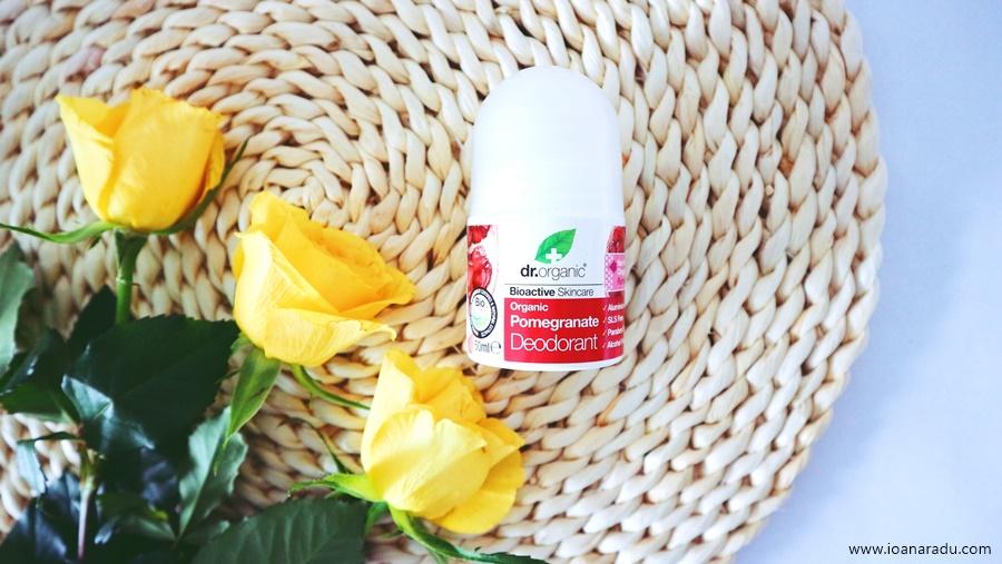 Deodorant Dr. Organic cu rodie
