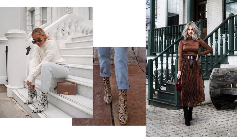 snake print fusta midi ootd style fashion