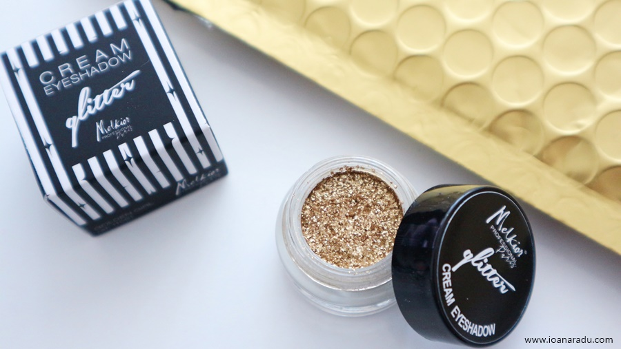 Cream Eyeshadow Glitter Golden Girl Melkior Professional fard cremos cu sclipici auriu
