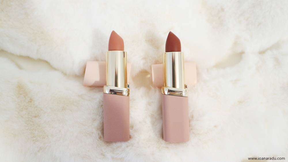 Două rujuri L'Oréal Paris Color Riche Free the nudes - NO Cliche NO Judgment