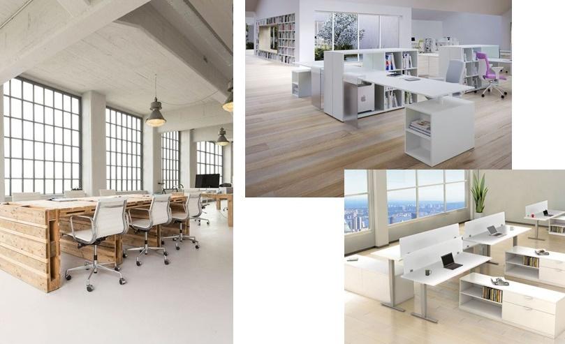 idei amenajare spatiu birouri stilul all white