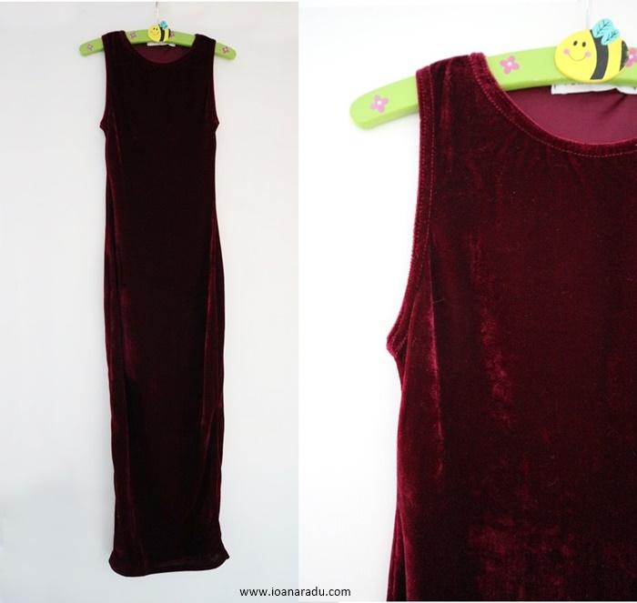 Maroon Velvet Sleeveless Midaxi Dress - Faith from FemmeLuxeFinery