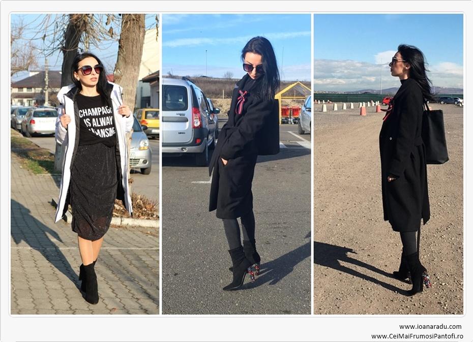 botine negre ceimaifrumosipantofi OOTD black outfit