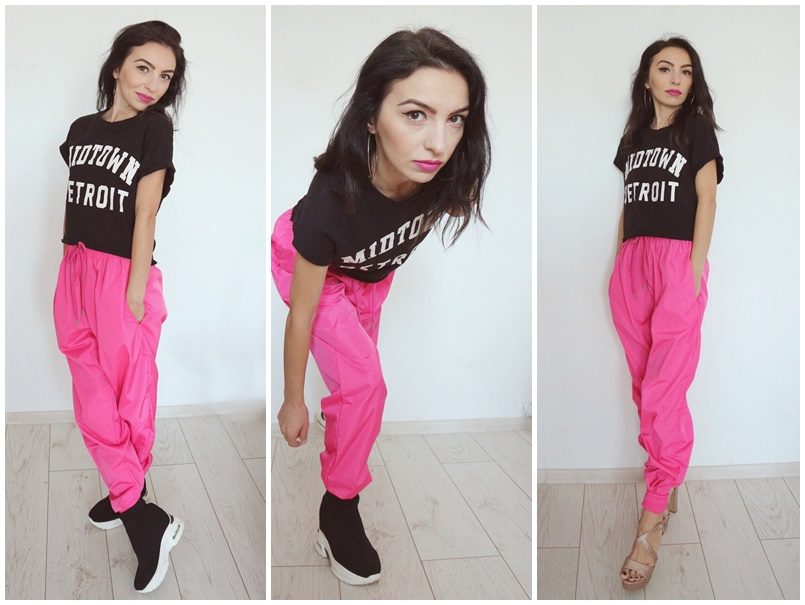 review Pink Shellsuit Elasticated Cuffed Joggers from Femme Luxe Finery