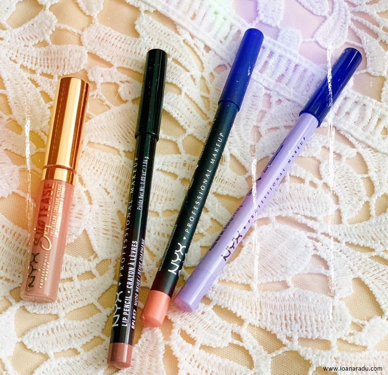 NYX Professional Slip Tease Undercover Babe and NYX slim lip pencil suede matte lip liner slide on