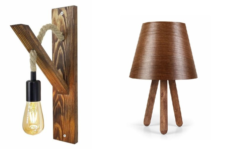 obiecte de iluminat model lemn